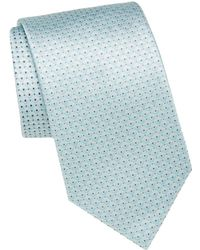 Brioni - Dot Patterned Silk Tie - Lyst