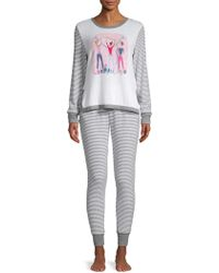 Jane And Bleecker - 2-piece Striped Pyjama Set - Lyst