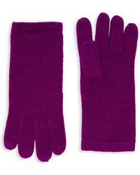 Saks Fifth Avenue - Cashmere Knit Gloves - Lyst