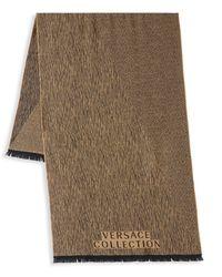 Versace Wool Scarf - Natural