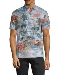 Valentino - Graphic Short-sleeve Cotton Button-down Shirt - Lyst