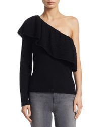Ella Moss - One-shoulder Knitted Sweater - Lyst
