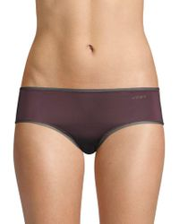 DKNY - Mesh-trimmed Hipster Panties - Lyst
