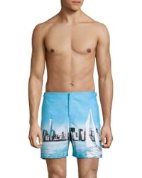Orlebar Brown - Bulldog City Graphic Swim Shorts - Lyst