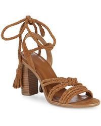 4b3efdfbaed8 Joie - Banji Lace-up Suede Block Heel Sandals - Lyst