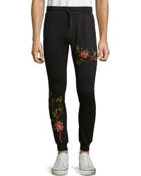 Standard Issue | Vine Embroidered Cotton Jogger Pants | Lyst