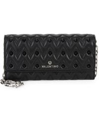 Valentino By Mario Valentino Cesare Quilted & Studded Wallet On A Chain