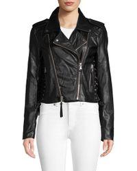 Bagatelle - Lace-up Faux Leather Moto Jacket - Lyst