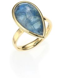 Ippolita | Rock Candy London Blue Topaz, Labradorite & 18k Yellow Gold Doublet Ring | Lyst