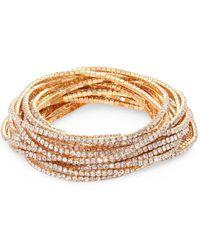 ABS By Allen Schwartz - Out Last Night Pavé Crystal Stretch Bracelets/set Of 20 - Lyst