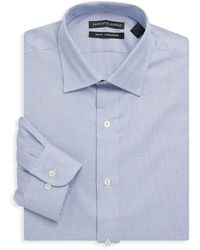 Saks Fifth Avenue - Cotton Slim-fit Dress Shirt - Lyst