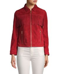 Zadig & Voltaire - Kioly Fringed Suede Jacket - Lyst