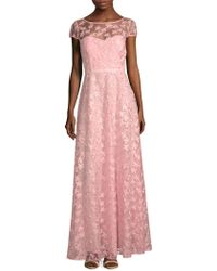 Karl Lagerfeld - Floral Embroidered A-line Gown - Lyst
