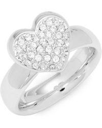 Swarovski - Pavé Crystal Heart Ring - Lyst