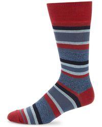 Saks Fifth Avenue - Jasper Tonal Striped Crew Socks - Lyst