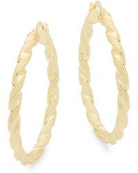 Saks Fifth Avenue - 14k Yellow Gold Twisted Hoop Earrings - Lyst