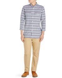 ebbcbb2d2c40e4 Lyst - Lacoste Short-sleeve Gingham Shirt in Blue for Men