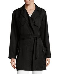 AG Jeans - Short Trench Coat - Lyst