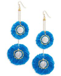Panacea - Druzy Double Drop Earrings - Lyst