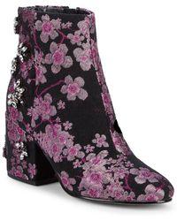 Sam Edelman - Taye Embellished Brocade Ankle Boots - Lyst
