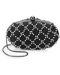 La Regale - Beaded Lattice Clutch - Lyst