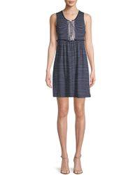 Max Studio - Striped Sleeveless Dress - Lyst