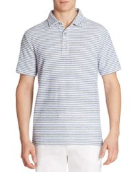 Saks Fifth Avenue - Terry Striped Polo - Lyst