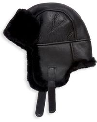 Surell - Leather & Shearling Trooper Hat - Lyst