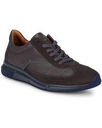 Aquatalia - Zander Woven Leather Trainers - Lyst