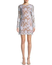 Dress the Population - Grace Lace Long-sleeve Dress - Lyst