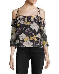 Ella Moss - Floral-print Off-the-shoulder Top - Lyst