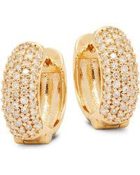 Effy - 14k Yellow Gold & Diamond Huggie Earrings - Lyst