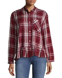 Premise Studio - Dolman Sleeve Plaid Shirt - Lyst