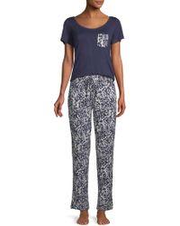 Catherine Malandrino - Two-piece Essential Pajama Set - Lyst