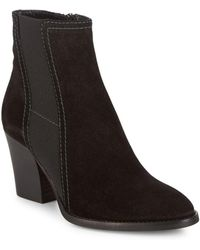 Aquatalia - Faye Pebbled Almond Toe Boots - Lyst