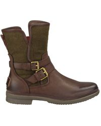 UGG - Simmens Leather & Felt Shearling-lined Boots - Lyst