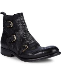 John Richmond - Buckled Leather Ankle Boots - Lyst