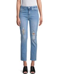 Hudson Jeans - Distressed Ankle Jeans - Lyst