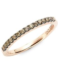 Effy - 14k Rose Gold & Brown Diamond Band Ring - Lyst
