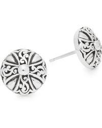 Lois Hill - Classic Sterling Silver Earrings - Lyst