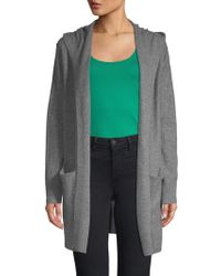 Vince - Heathered Cashmere Hooded Cardigan - Lyst