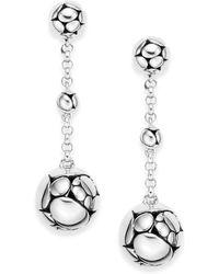 John Hardy | Kali Sterling Silver Chain Drop Earrings | Lyst