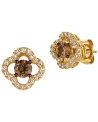 Le Vian - Chocolatier Vanilla Diamond, Chocolate Diamond And Honey Gold Earrings - Lyst
