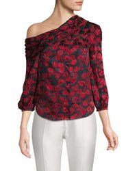 Saloni - Ness Floral-print Silk Top - Lyst