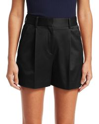 Theory - Hudson Pleated Twill Shorts - Lyst