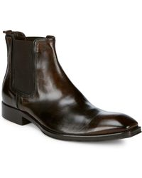 Jo Ghost - Square Toe Leather Chelsea Boots - Lyst