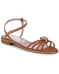 2735e8f75 ALDO Ibaynna Bow And Bling Brooch Detail Slide Sandals in Black - Lyst