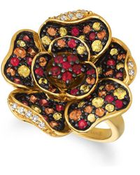 Le Vian - 14k Honey Gold Sunny Yellow Sapphires & Orange Sapphires Ring - Lyst