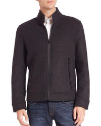 Andrew Marc - Long Sleeve Moto Jacket - Lyst