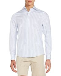 Gant | Fitted Pinstripe Cotton Sportshirt | Lyst